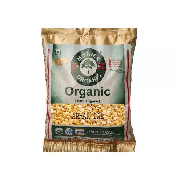 Mother Organic Arhar Dal (500 gm)-0