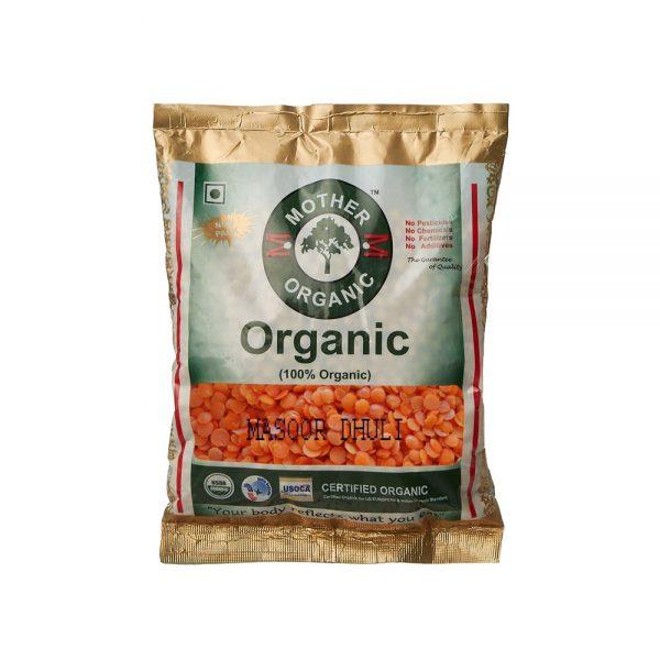 Mother Organic Masoor Dhuli (500 gm)-0
