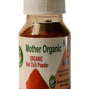 Mother Organic Redchilli Powder Bottle (100 gm)-0