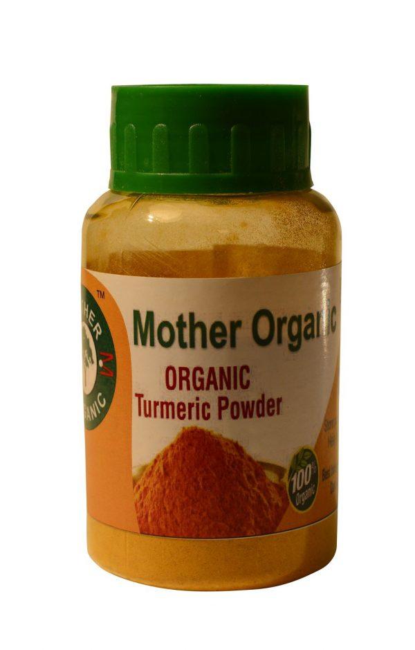 Mother Organic Turmeric Powder Bottle (100 gm)-0